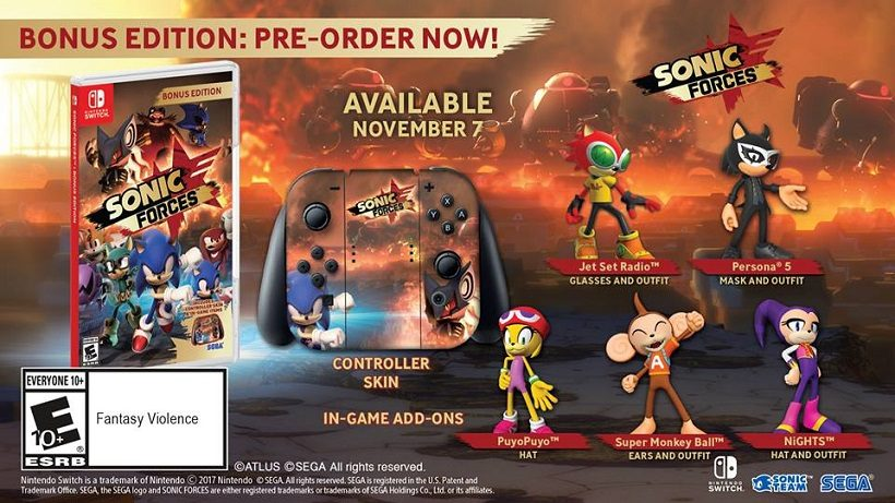 Sonic Forces release date and pre-order bonus detailed | Switch Player