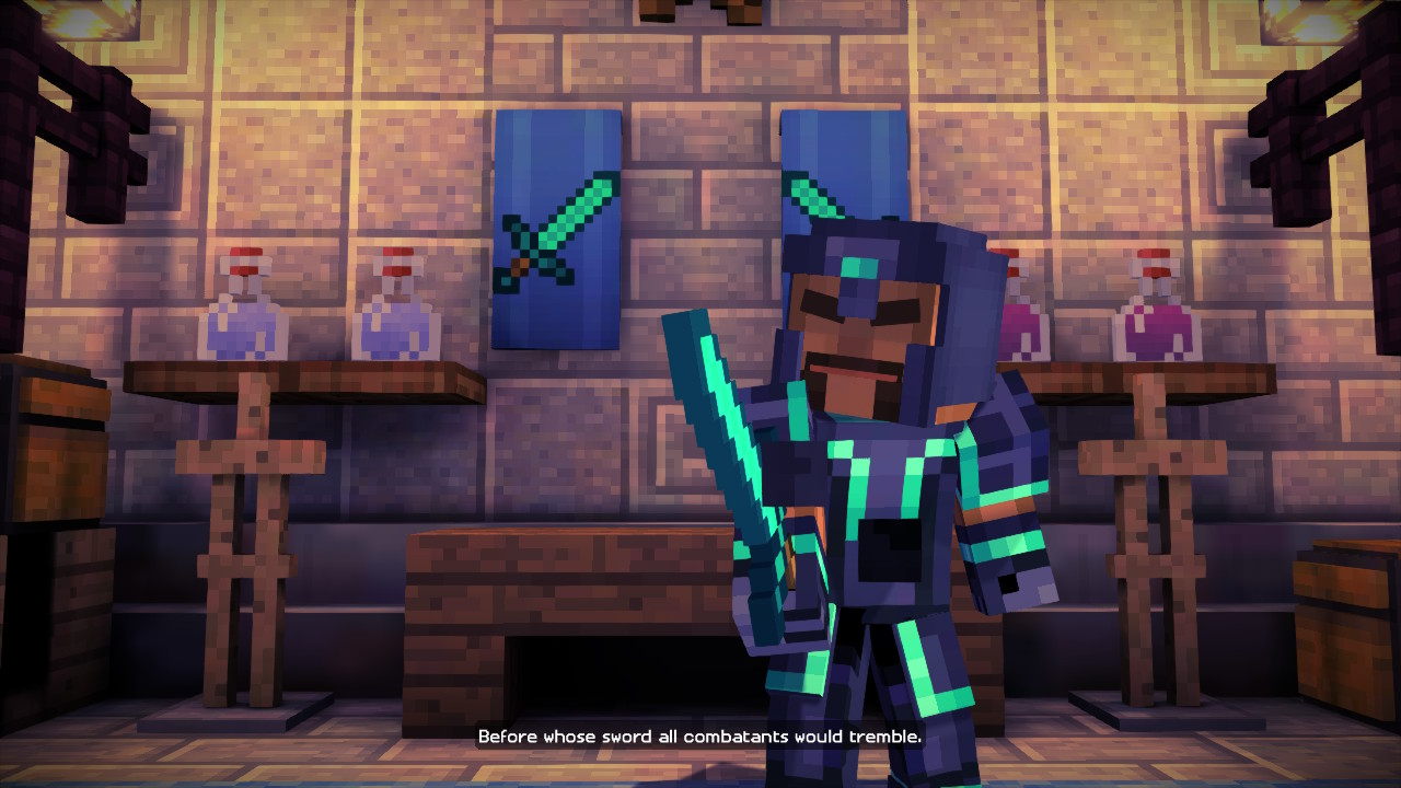 Minecraft Story Mode The Complete Adventure Review Switch Player Three Way In It Is Possible To Say That Minecrafts Unprecedented Success Comes From Many Different Things Its Addictive Gameplay Looping Openness Creativity