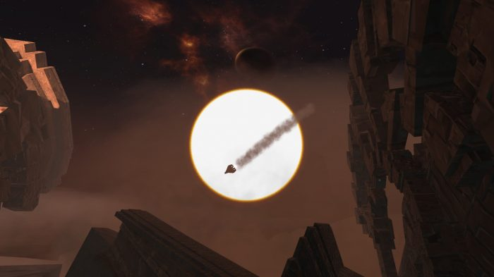 An escape pod crash lands at the start of Eclipse: Edge of Light