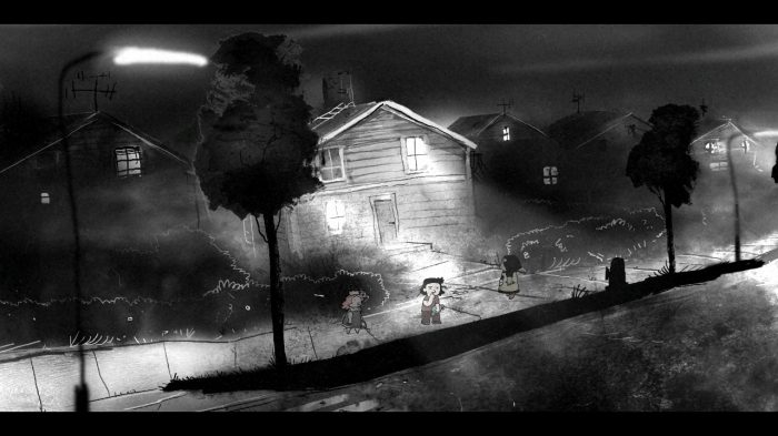 The opening scene of point-and-click novel Lydia