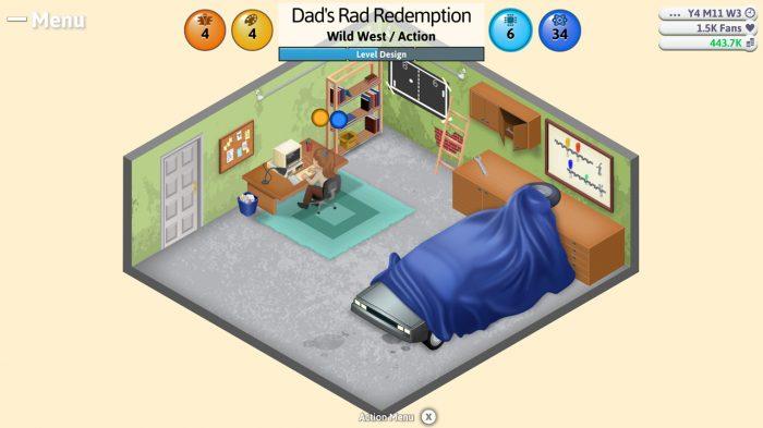 Game Dev Tycoon Nintendo Switch Gameplay Screenshot