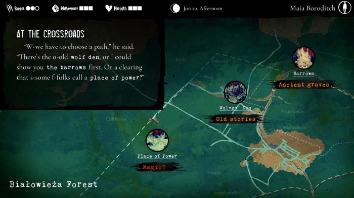 Werewolf: The Apocalypse - Heart of the Forest Nintendo Switch Gameplay Screenshot