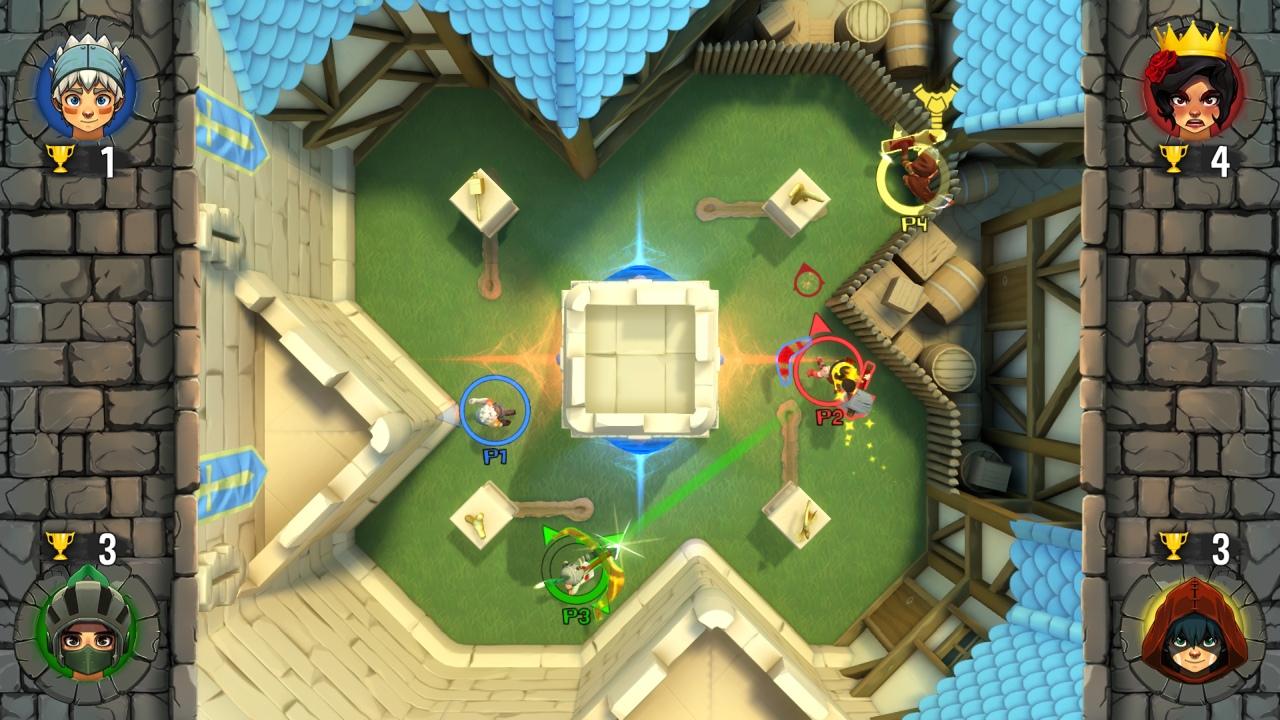 Wondershot Nintendo switch players fighting in arena