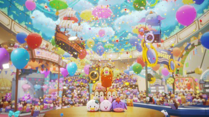 Disney Tsum Tsum Festival characters stacking