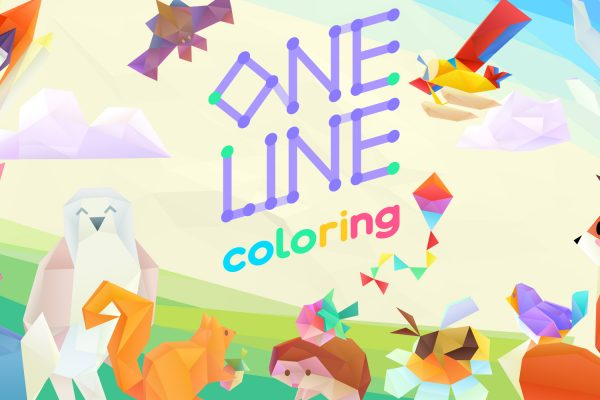 One Line Coloring Nintendo Switch Title Art