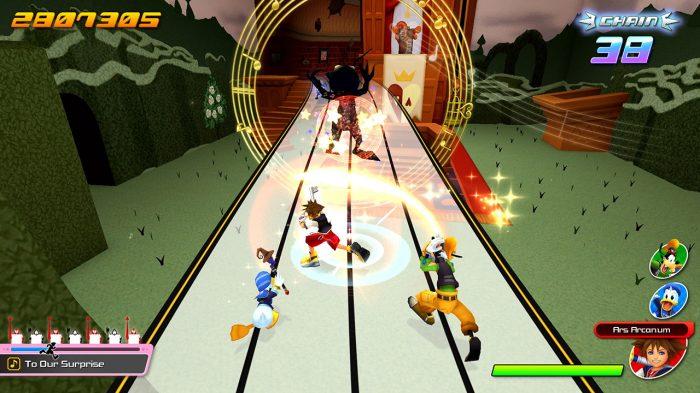 Kingdom Hearts: Melody of Memory Nintendo Switch Gameplay Screenshot