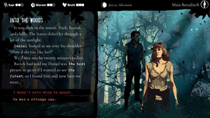 Werewolf: The Apocalypse - Heart of the Forest Nintendo Switch Gameplay Screenshot