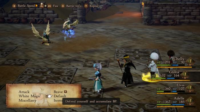 Nintendo Switch Bravely Default II Gameplay Screenshot