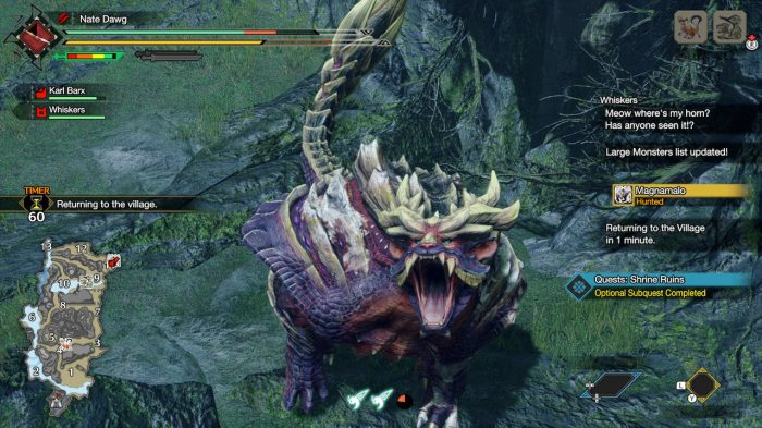 Monster Hunter Rise Nintendo Switch Gameplay Screenshot