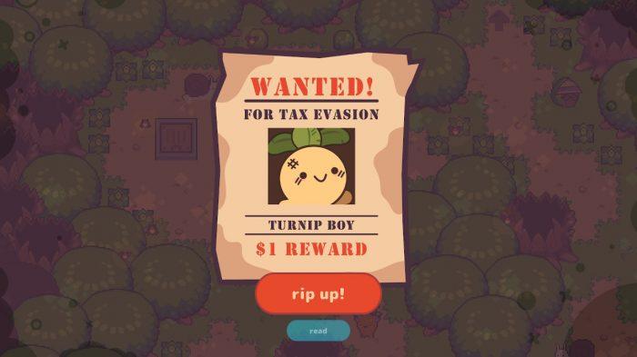 Turnip Boy Commits Tax Evasion Nintendo Switch Gameplay Screenshot