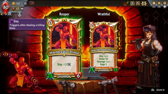 Monster Train: First Class Nintendo Switch Gameplay Screenshot